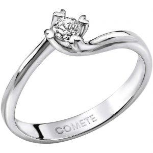"""Anello Solitario Valentino Comete Gioielli Collezione """"Sigillo D'Amore"""" in oro 750/00 e diamante ANB 1581"""