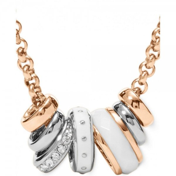 """Collana Fossil Donna """"White Rondels"""" JF01122998"""