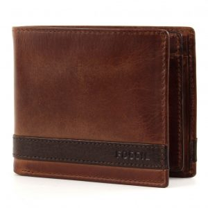 "Portafogli Fossil Uomo""Queen Large Coin Pocket Bifold Brown"" ML3653200"