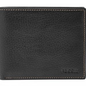 "Portafogli Fossil Uomo""Lincoln Large Coin Pocket Bifold Black"" ML3571001"