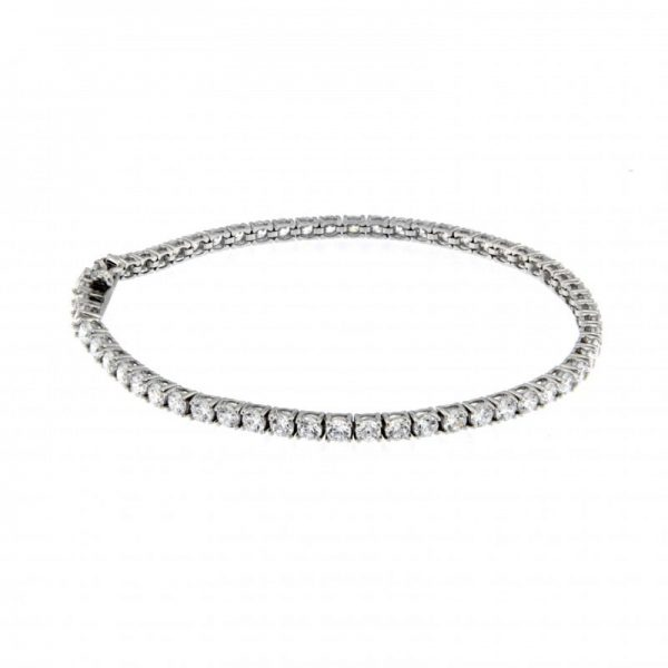 "Bracciale Tennis Essesteel Jewels Donna ""Silver Collection"" SIL14B0010-52"