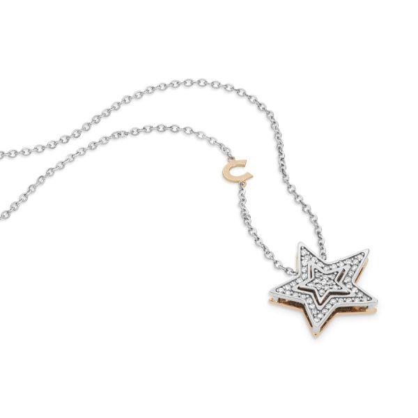 """Collana Donna Comete Gioielli """"Collezione Stella"""" in oro 750/00 e diamanti GLB 1446"""