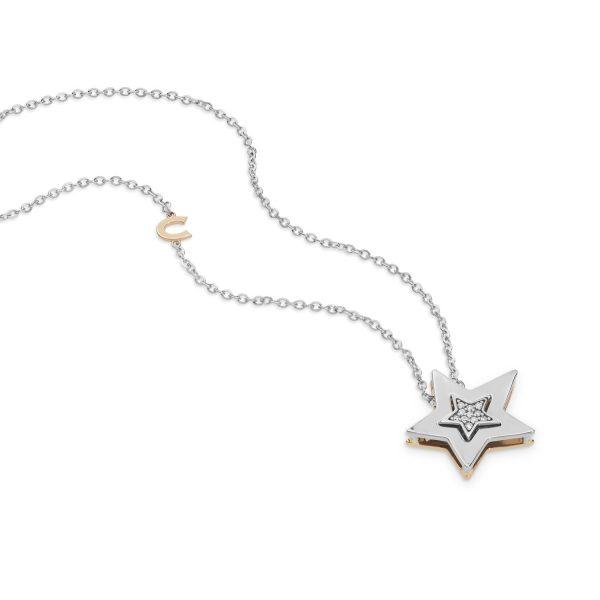 """Collana Donna Comete Gioielli """"Collezione Stella"""" in oro 750/00 e diamanti GLB 1447"""