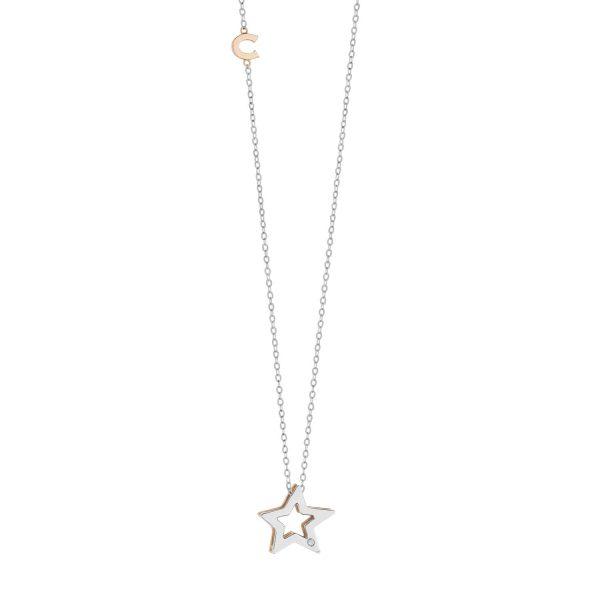 """Collana Donna Comete Gioielli """"Collezione Stella"""" in oro 750/00 e diamanti GLB 1449"""
