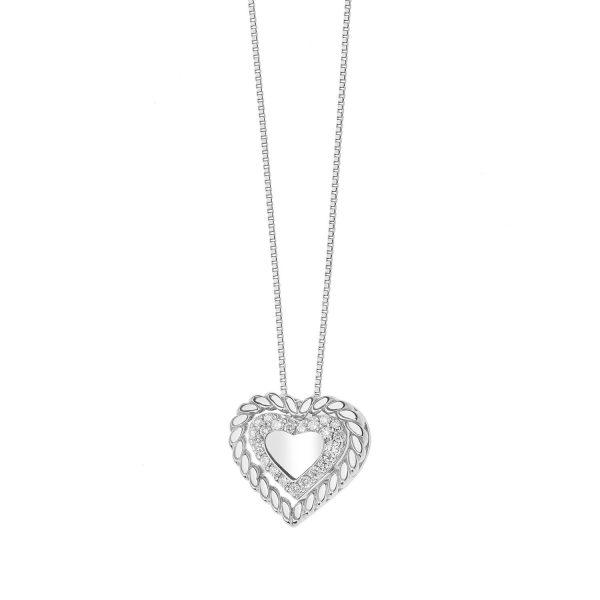 """Collana Donna Comete Gioielli """"Collezione Torchon"""" in oro 750/00 e diamanti GLB 1367"""