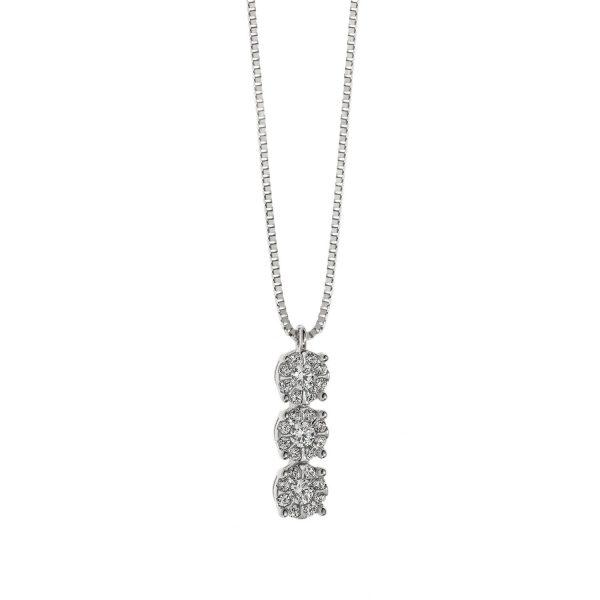 """Collana Donna Comete Gioielli """"Collezione Rose di Diamanti"""" in oro 750/00 e diamanti GLB 1037"""