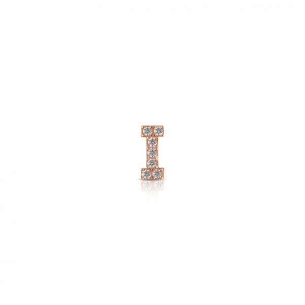 """Componibile Kulto 925 Charm Donna """"Always With Me"""" Lettera """"I"""" Con Cristalli KC925-035"""