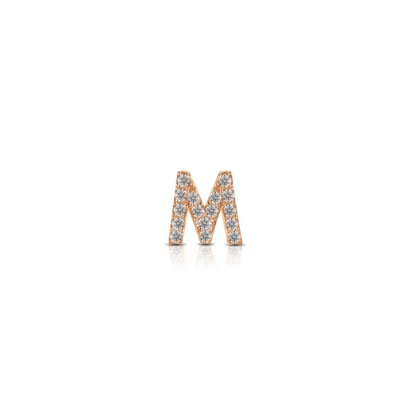 """Componibile Kulto 925 Charm Donna """"Always With Me"""" Lettera """"M"""" Con Cristalli KC925-039"""