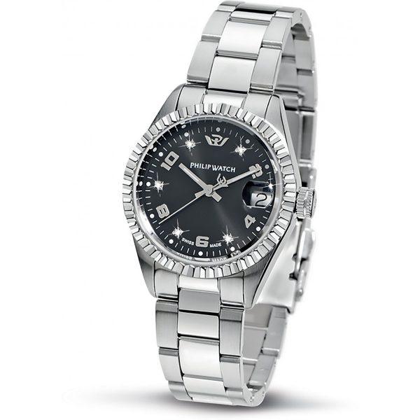 """Orologio Philip Watch Donna Solo Tempo Con Diamanti """"Caribe"""" R8253597504"""