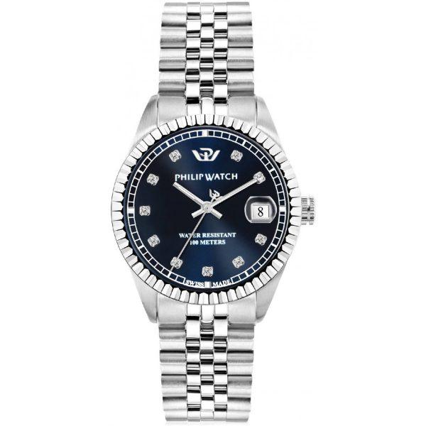 """Orologio Philip Watch Donna Solo Tempo Con Diamanti """"Caribe"""" R8253597536"""