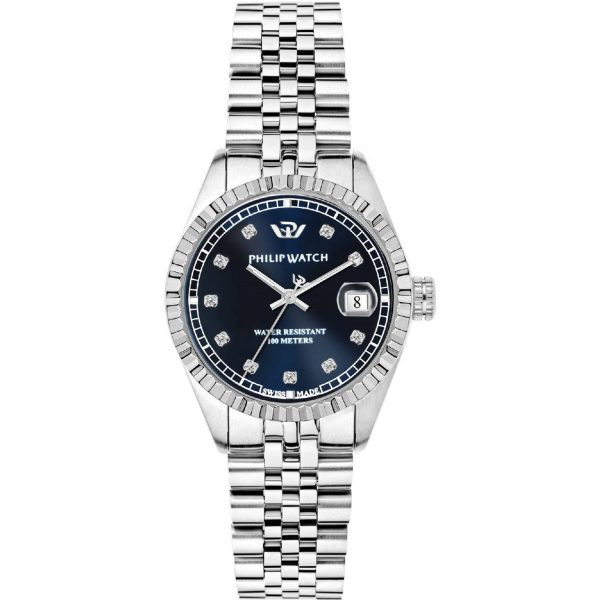 "Orologio Philip Watch Donna Solo Tempo Con Diamanti ""Caribe"" R8253597537"