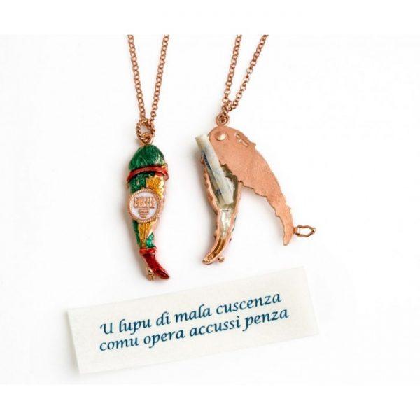 """Collana Uomo Donna Caretta Caretta Jewelry """"Scrigno"""" D08"""