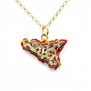 """Collana Uomo Donna Caretta Caretta Jewelry """"Barocco Siciliano"""" AD23"""