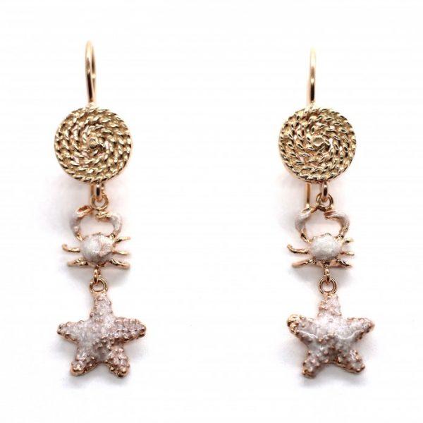 """Orecchini Donna Caretta Caretta Jewelry """"Marea D'Argento"""" C65"""