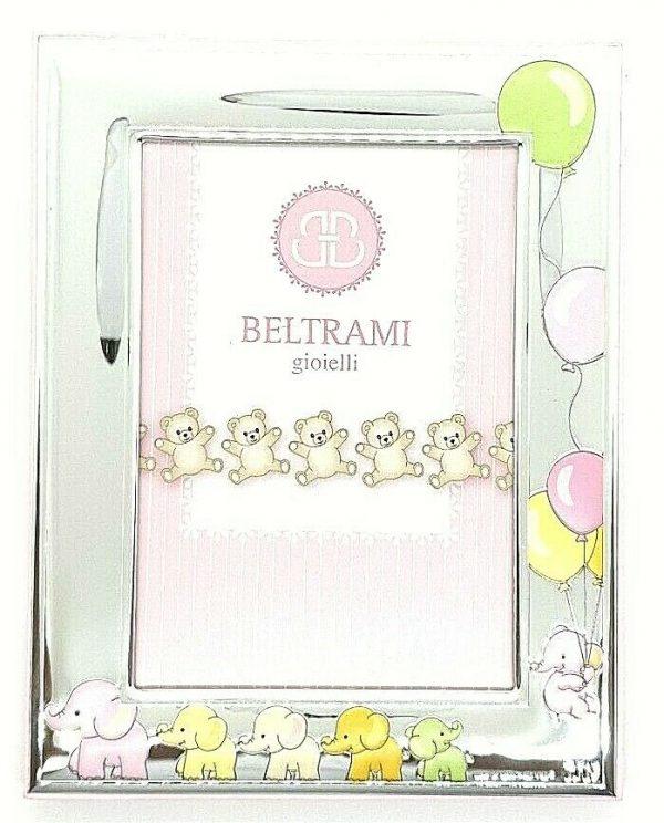 "Cornice Portafoto Beltrami Bambina ""Elefanti"" 3783/3RA 9X13 cm"