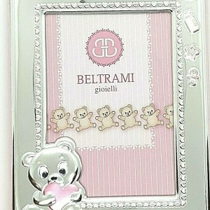 "Cornice Portafoto Beltrami Bambina ""Orsetta"" 3756/3RA 9X13 cm"