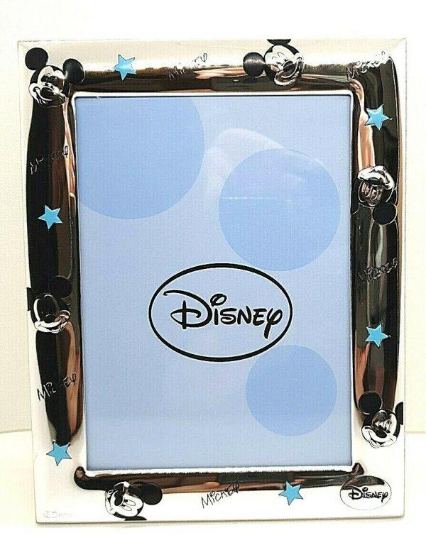 """Cornice Portafoto Valenti Argenti Disney Bambino """"Michey Mouse"""" D296 1C"""
