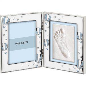 Cornice Con Kit Per Impronte Portafoto Mongolfiera Valenti Bambino 73143 3LC