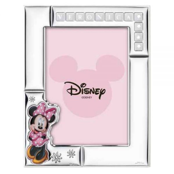 "Cornice Portafoto Valenti Argenti Disney Bambina ""Minnie"" D381 4LRA"