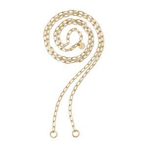 """Collana 2Jewels """"Lock 'N' Chain"""" Catena Maglia Ovale Bracciale-Collana Componibile Donna 251773"""