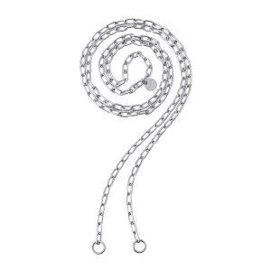 """Collana 2Jewels """"Lock 'N' Chain"""" Catena Maglia Ovale Bracciale-Collana Componibile Donna 251772"""