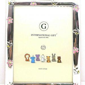 "Cornice Portafoto International Gift ""Api Fiori"" Bambina 0912 6814R 17x22 cm"