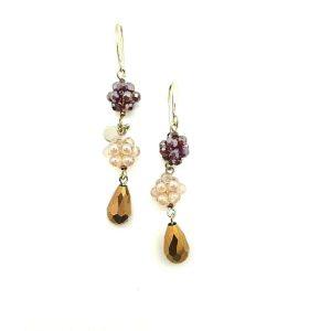 Orecchini Ottaviani Donna Ad Uncino Con Perline E Cristalli 490363