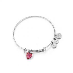 "Bracciale Kulto Donna ""Kiklous Heart Birthstone"" Colore Rosso KK007HR"